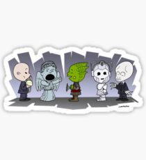 Doctor Who Monsters ... Peanuts Style Sticker