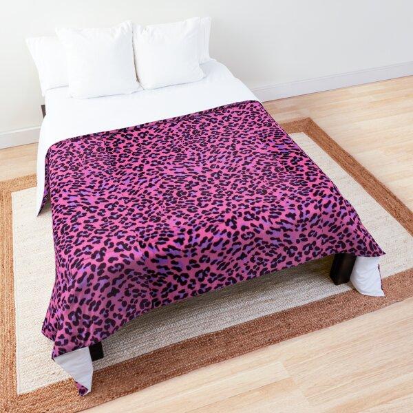 y2k pink leopard aesthetic Comforter