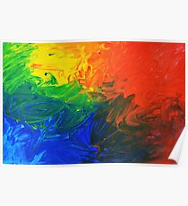 Melted Rainbow Poster