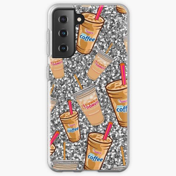 Dunkin' Donuts coffee design with glitter Samsung Galaxy Soft Case