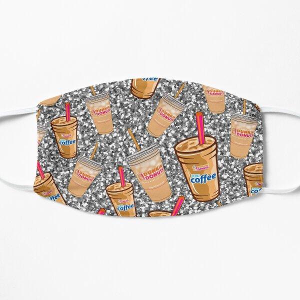 Conception de café Dunkin 'Donuts avec des paillettes Masque sans plis