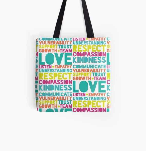 LOVE IS RESPECT All Over Print Tote Bag