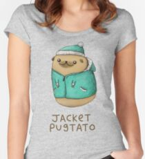 Jacket Pugtato Women's Fitted Scoop T-Shirt