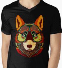 The Wolf T-Shirt mit V-Ausschnitt