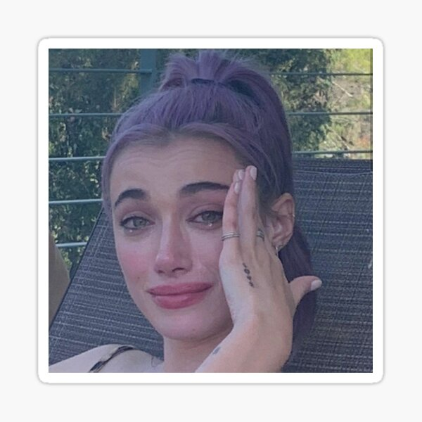 A crying Olivia O'Brien Sticker