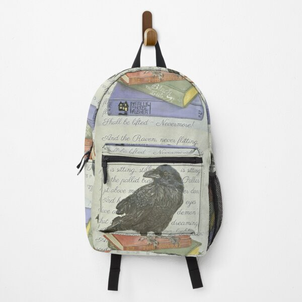 Inspired by Edgar Allan Poe - The Raven - Pastel Artwork Backpack