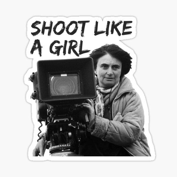 Agnes Varda Shoot Like A Girl Sticker