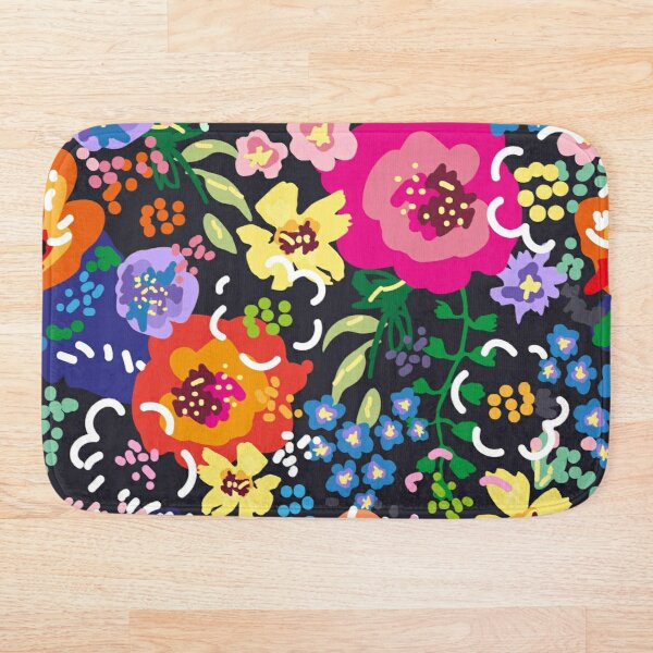 Wildflowers at Night Bath Mat