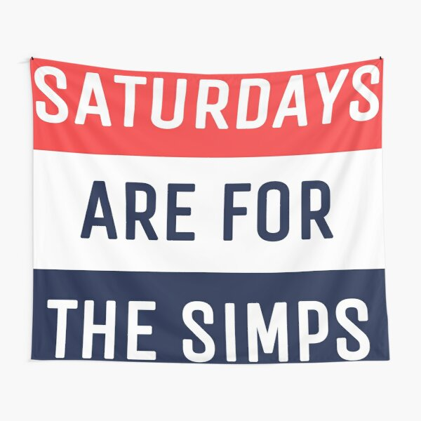 Saturdays Are For The Simps Colorblocking Tapestry