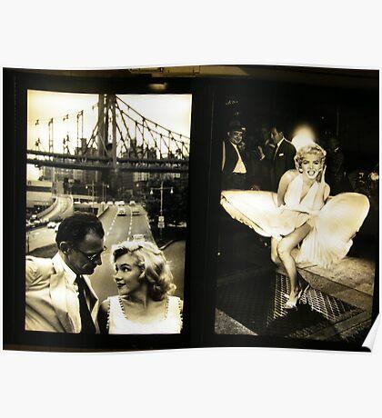 """Marilyn in New York"", Sam Shaw Photographer, Photography Exhibit in New York Subway, New York City Poster"