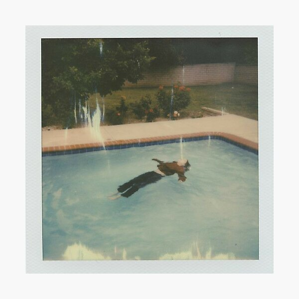 Girl in Red - dead girl in the pool  Photographic Print