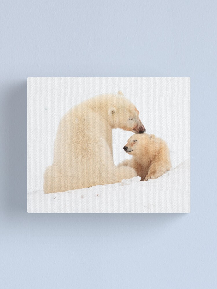 Alternate view of A mother's love Canvas Print