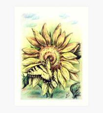Sunflower and Swallowtail Art Print