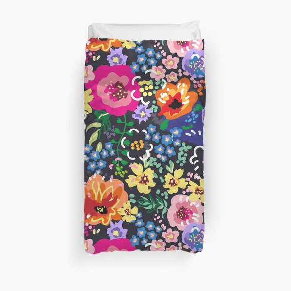 Wildflowers at Night Duvet Cover
