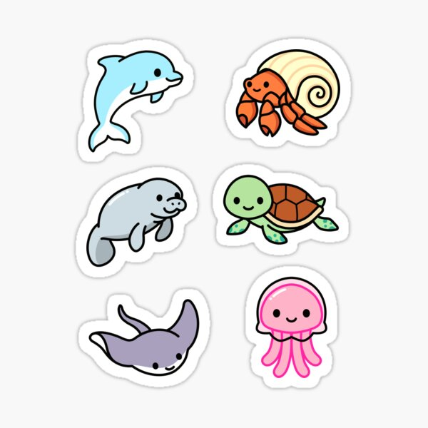 Beach Animal Sticker Pack Sticker
