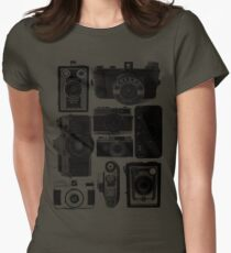 Retro Cameras Womens Fitted T-Shirt