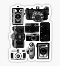 Retro Cameras Sticker