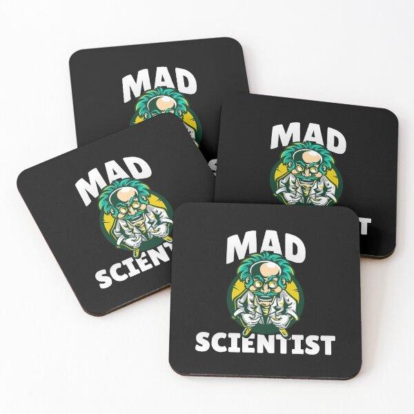 MAD SCIENTIST Coasters (Set of 4)