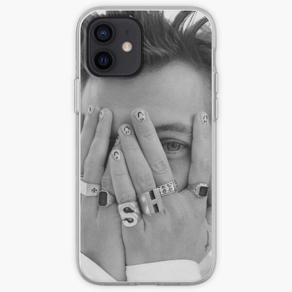 harrystyles black and white iPhone Soft Case