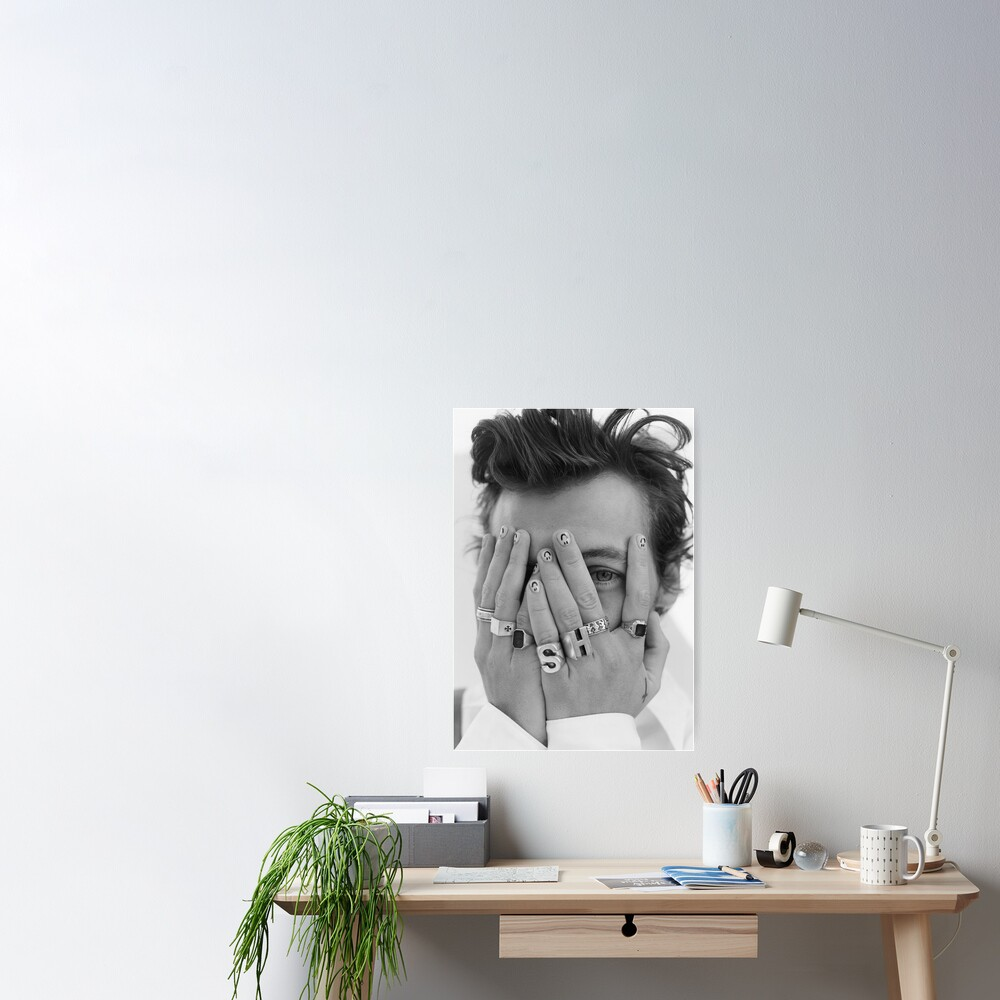 harrystyles black and white Poster