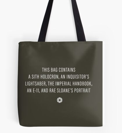 Empire & First Order Bag Tote Bag