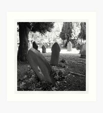 Gravestones, Buxton Art Print