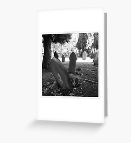 Gravestones, Buxton Greeting Card