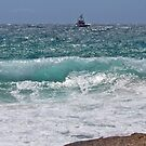 Boat in the swell by Alastair Creswell