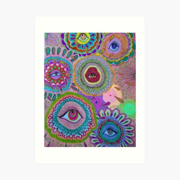 indie eye collage Art Print