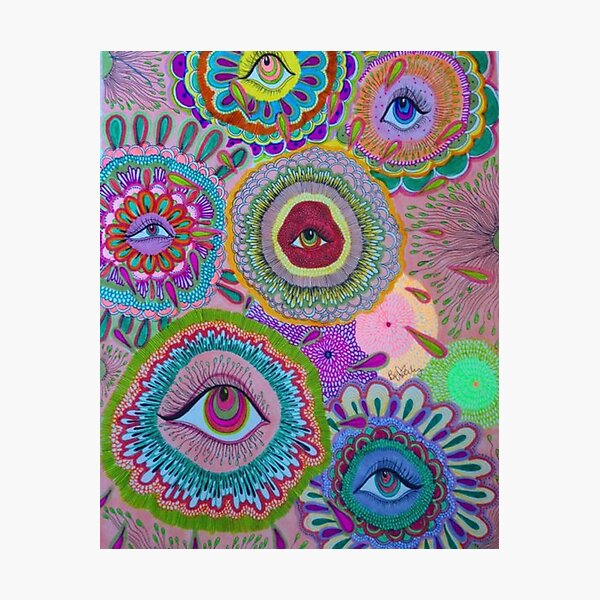 indie eye collage Photographic Print