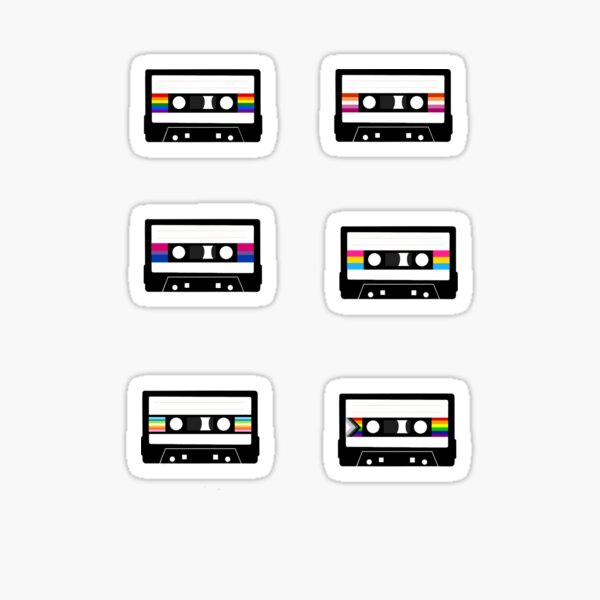 Subtle Pride Cassette Tapes (sticker pack) Sticker