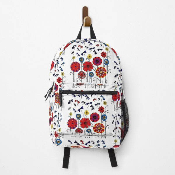 Flowers and Dragonflies Backpack