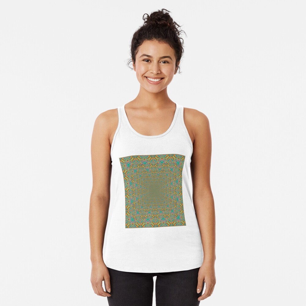 Scientific, Artistic, and Psychedelic Prints on Awesome Products Racerback Tank Top