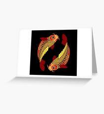 Pisces Grußkarte
