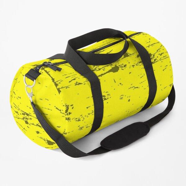 Solid Color Grunge Yellow, Geel, Jaune, Gelb, Amarillo Duffle Bag