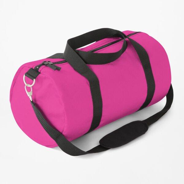 Hot Pink Color Solid Roze, Rose, Pink, Rosado Duffle Bag