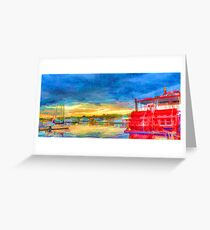 Paddle Boat Greeting Card