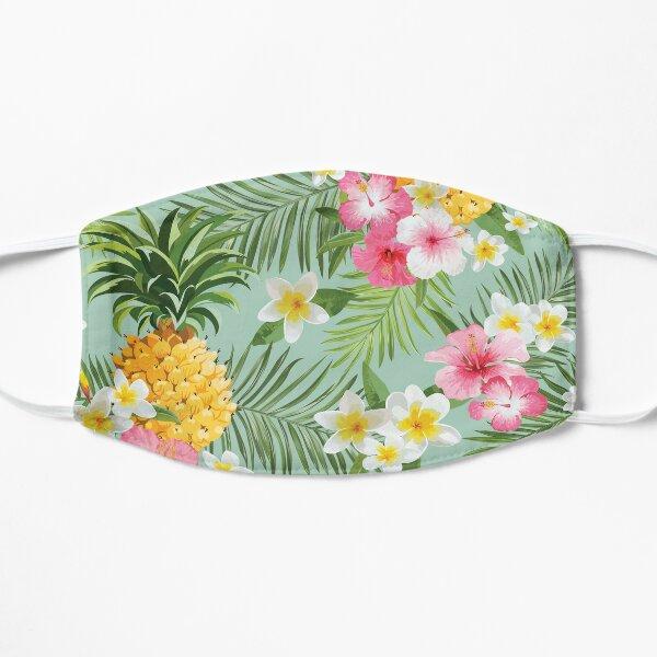 Hawaiian Pineapple and Tropical Flowers Mask