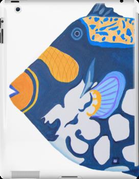 iPad case, iPad cover, iPad deflector. tropical fish by terezadelpilar ~ art & architecture