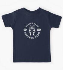 Ahsoka Tano Defense Team (white text) Kids T-Shirt