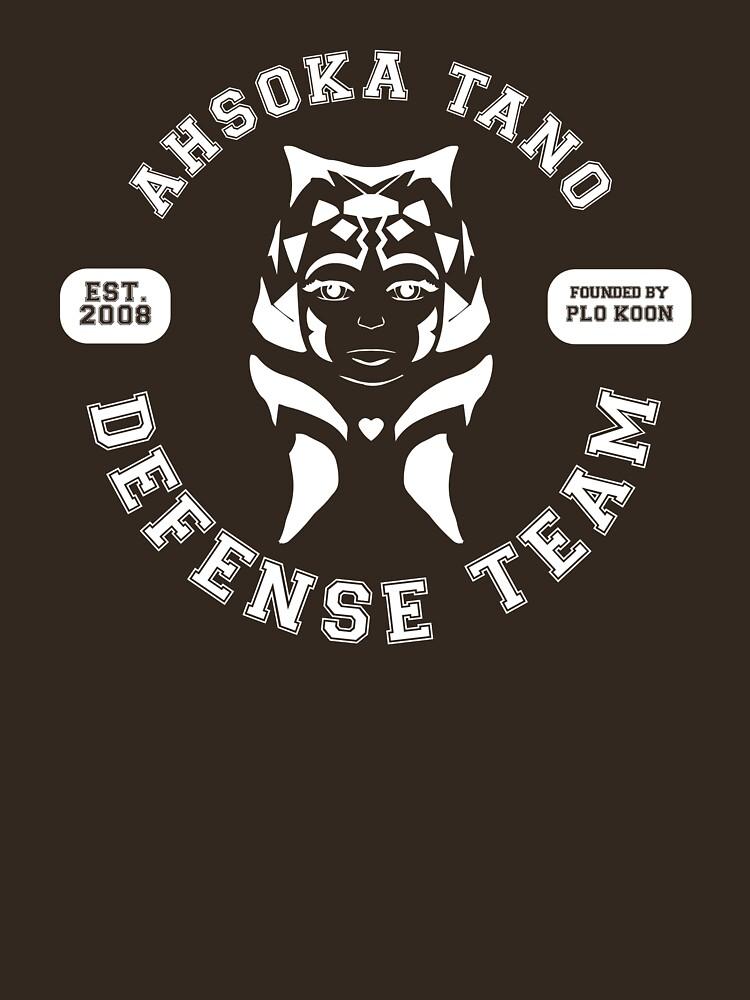 Ahsoka Tano Defense Team (white text) by houseorgana