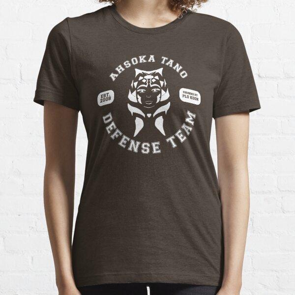 Ahsoka Tano Defense Team (white text) Essential T-Shirt