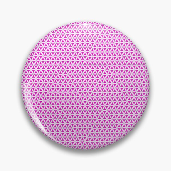 Pink Triangle Pattern Geometric Design Pin