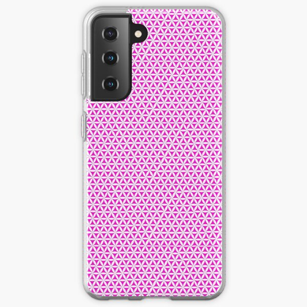 Pink Triangle Pattern Geometric Design Samsung Galaxy Soft Case