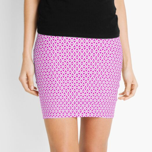 Pink Triangle Pattern Geometric Design Mini Skirt