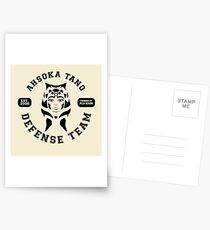 Ahsoka Tano Defense Team (black text) Postcards