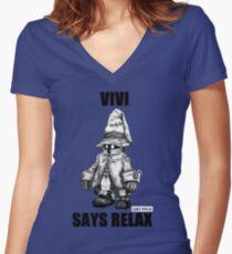 Vivi Says Relax - Sketch em up Women's Fitted V-Neck T-Shirt