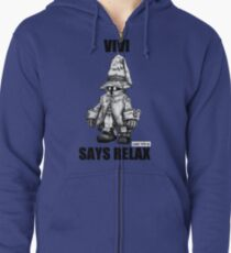 Vivi Says Relax - Sketch em up Zipped Hoodie