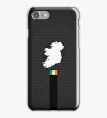 Irland Flag and Map - Black Stripe on Dark gray iPhone Case/Skin