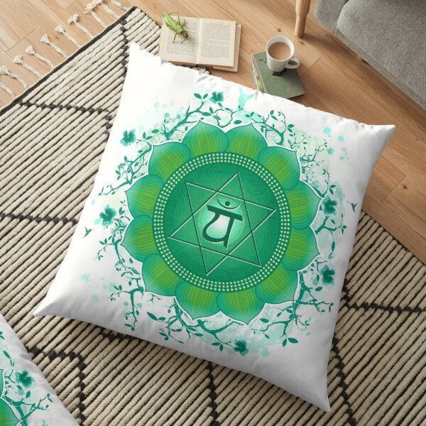Heart Chakra Art Floor Pillow